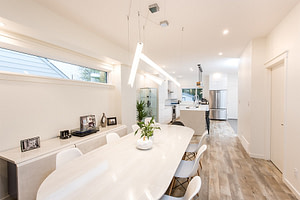 Open concept dining room