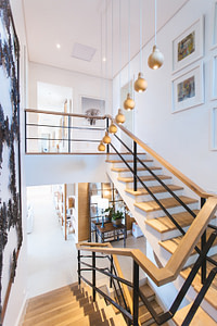 beautiful exposed staircase