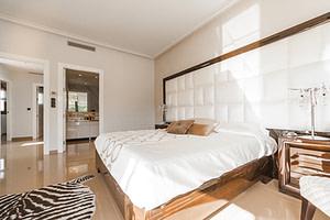 white luxury master bedroom