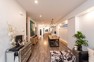 Open concept floorplan with ultra-modern fixtures
