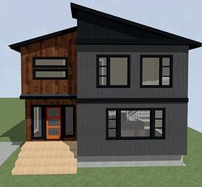 No garage modern exterior 3